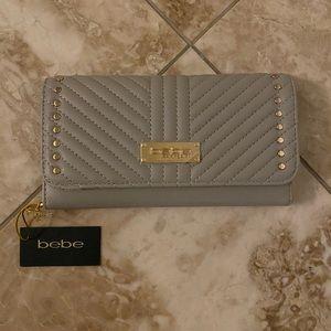 Bebe grey/ tan wallet.